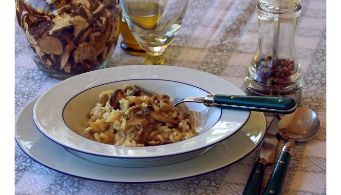 Ricetta di riso con funghi